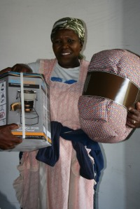 Each household received a wonderbag and an energy efficient stove